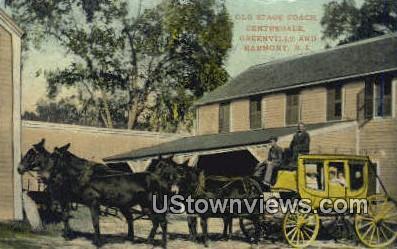 Old Stage Coach - Harmony, Rhode Island RI Postcard