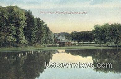 Lake, Roger Williams Park - Providence, Rhode Island RI Postcard