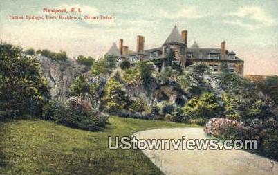 Indian Springs - Newport, Rhode Island RI Postcard