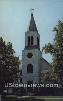 First Evangelical Lutheran Church - East Greenwich, Rhode Island RI Postcard