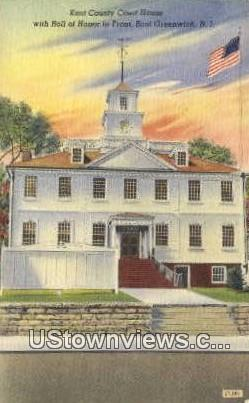 Kent County Court House - East Greenwich, Rhode Island RI Postcard