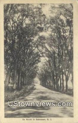 En Route - Sakonnet, Rhode Island RI Postcard