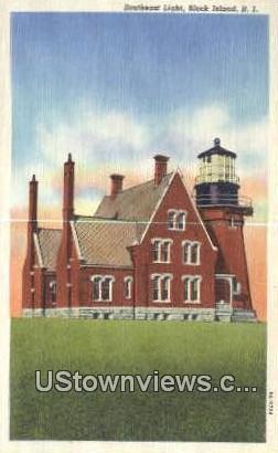 Southeast Lighthouse - Block Island, Rhode Island RI Postcard