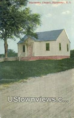 Harmony Chapel - Rhode Island RI Postcard