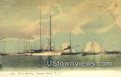 Harbor - Newport Harbor, Rhode Island RI Postcard