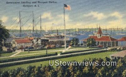 Government Landing - Newport Harbor, Rhode Island RI Postcard