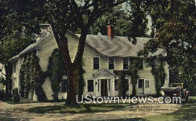 Gov Green house - East Greenwich, Rhode Island RI Postcard