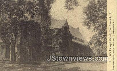 St. Luke's Episcopal Church - East Greenwich, Rhode Island RI Postcard