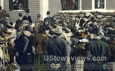 Massacoit Memorial Tablet, Oct 1907 - Warren, Rhode Island RI Postcard
