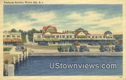 Business Section - Watch Hill, Rhode Island RI Postcard