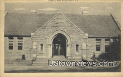 Library - East Greenwich, Rhode Island RI Postcard