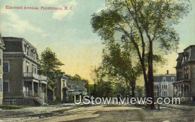 Elmwood Ave - Providence, Rhode Island RI Postcard