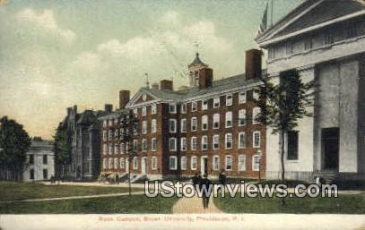 Back Campus, Brown University - Providence, Rhode Island RI Postcard