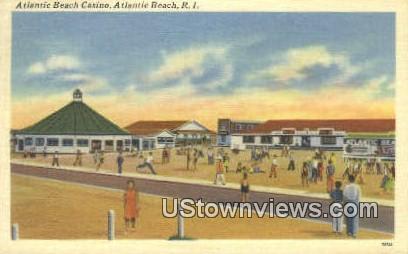 Atlantic Beach Casino - Rhode Island RI Postcard