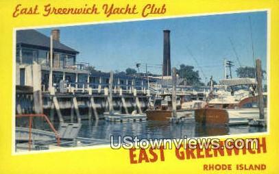 East Greenwich Yacht Club - Rhode Island RI Postcard