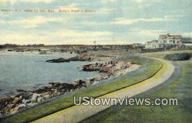 Bailey's Beach - Newport, Rhode Island RI Postcard