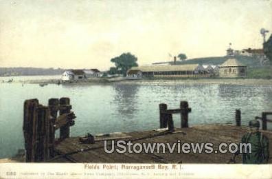 Fields Point - Narragansett Bay, Rhode Island RI Postcard