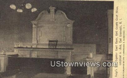 Judge's Seat, Kent County Court House - East Greenwich, Rhode Island RI Postcard