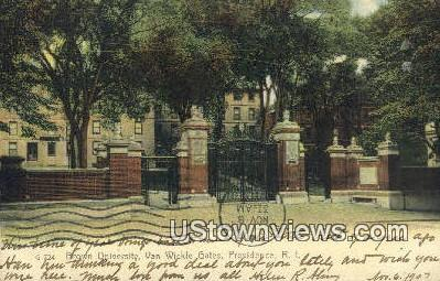 Brown University - Providence, Rhode Island RI Postcard