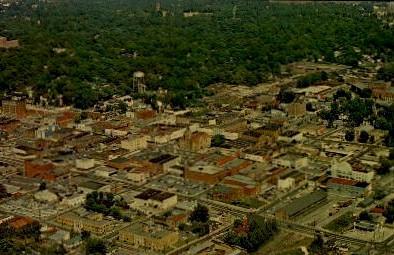 Aerial View - Anderson, South Carolina SC Postcard
