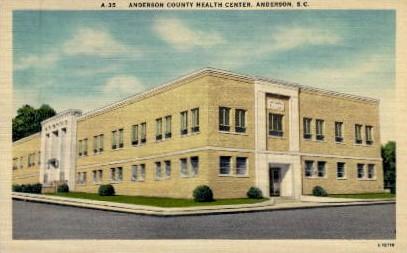 Anderson County Heath Center - South Carolina SC Postcard