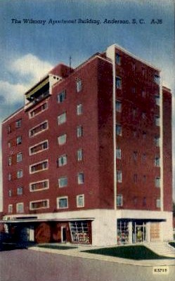 The Wilmary Apartment Building - Anderson, South Carolina SC Postcard