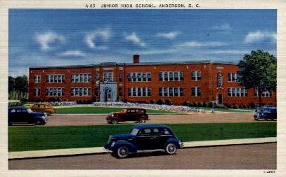 Junior High School - Anderson, South Carolina SC Postcard
