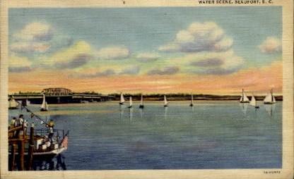 Water Scene - Beaufort, South Carolina SC Postcard