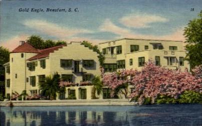 Gold Eagle - Beaufort, South Carolina SC Postcard