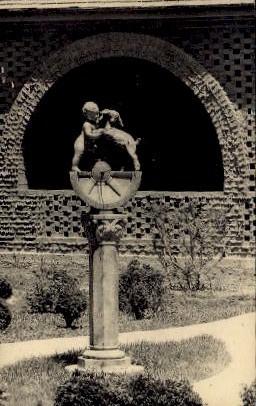 Sundial by Brenda Putnam - Brookgreen Gardens, South Carolina SC Postcard