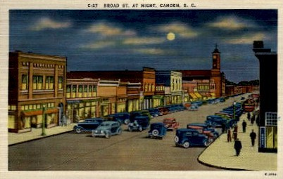 Broad Street - Camden, South Carolina SC Postcard