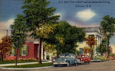 Old Town Hall and Lyceum Building - Cheraw, South Carolina SC Postcard