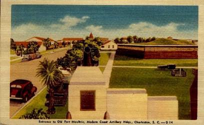 Entrance to Old Fort Moultrie - Charleston, South Carolina SC Postcard