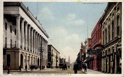 Charleston Hotel at Metting Street - South Carolina SC Postcard