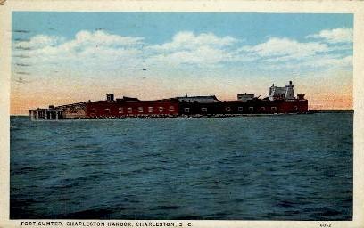 Fort Sumter, Charleston Harbor - South Carolina SC Postcard