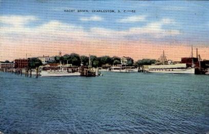 Yacht Basin - Charleston, South Carolina SC Postcard