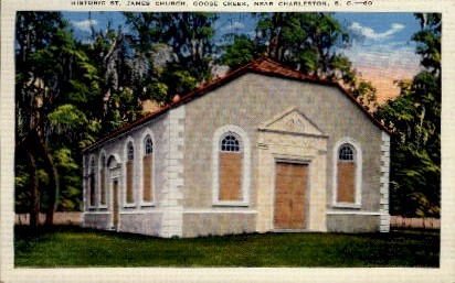 Historic St. James Church - Charleston, South Carolina SC Postcard