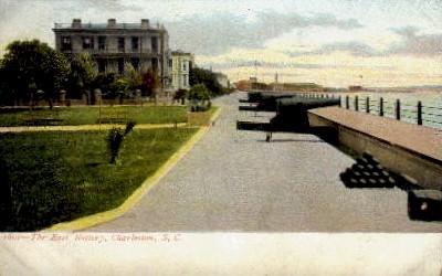 The East Battery - Charleston, South Carolina SC Postcard
