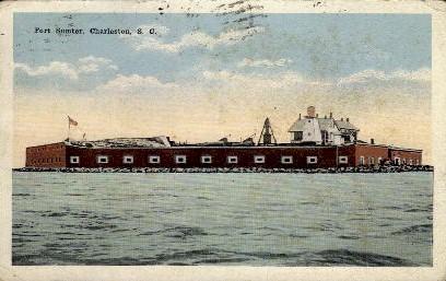 Fort Sumter - Charleston, South Carolina SC Postcard