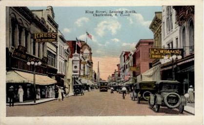 King Street  - Charleston, South Carolina SC Postcard