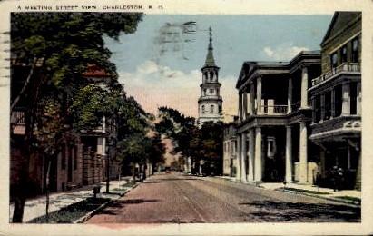 Meeting Street - Charleston, South Carolina SC Postcard