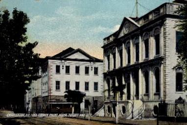 Old County Court House - Charleston, South Carolina SC Postcard