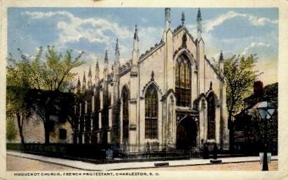 Huguenot Church - Charleston, South Carolina SC Postcard