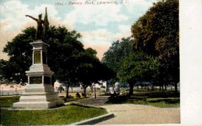 Battery Park - Charleston, South Carolina SC Postcard