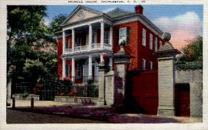 Pringle House - Charleston, South Carolina SC Postcard