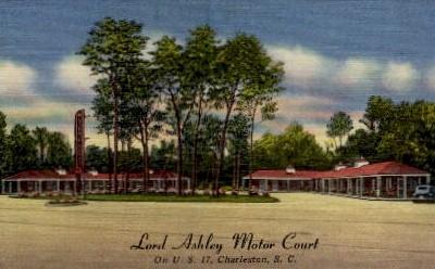 Lord Ashley Motor Court - Charleston, South Carolina SC Postcard