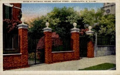 Gates at Maybank House - Charleston, South Carolina SC Postcard