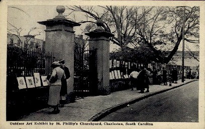 Outdoor Art Exhibit - Charleston, South Carolina SC Postcard