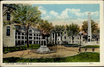 City Park - Charleston, South Carolina SC Postcard