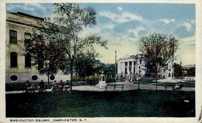 Washington Square - Charleston, South Carolina SC Postcard